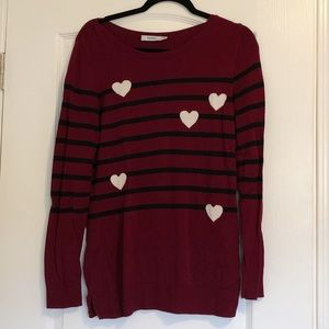 Ricki's Hearts & Stripes Sweater